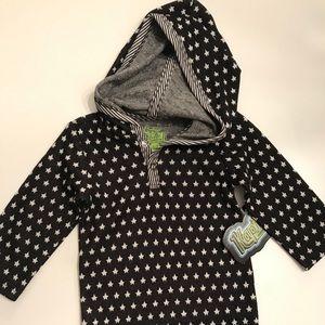 Kapital K Black Hooded Star Bodysuit